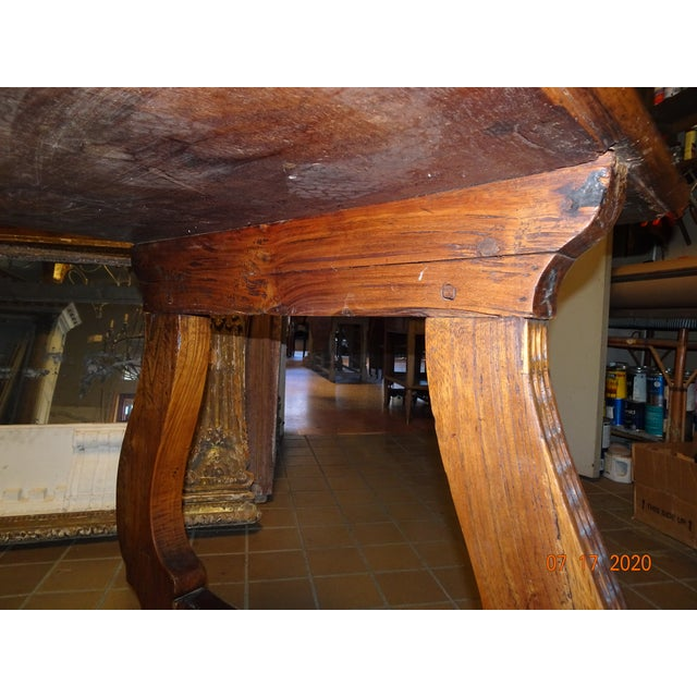 Mid 19th Century 19th Century Spanish Walnut Dining Table For Sale - Image 5 of 13