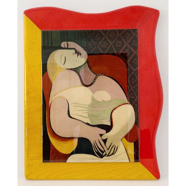"""1980s Pablo Picasso """"Le Reve"""" Gloss Lacquer Painting For Sale In Minneapolis - Image 6 of 6"""