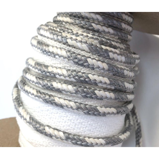 """Braided 1/4"""" Indoor/Outdoor White/Gray Cord For Sale - Image 4 of 10"""