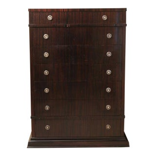 Gorgeous Ralph Lauren Rosewood 7 Drawer Tall Chest For Sale
