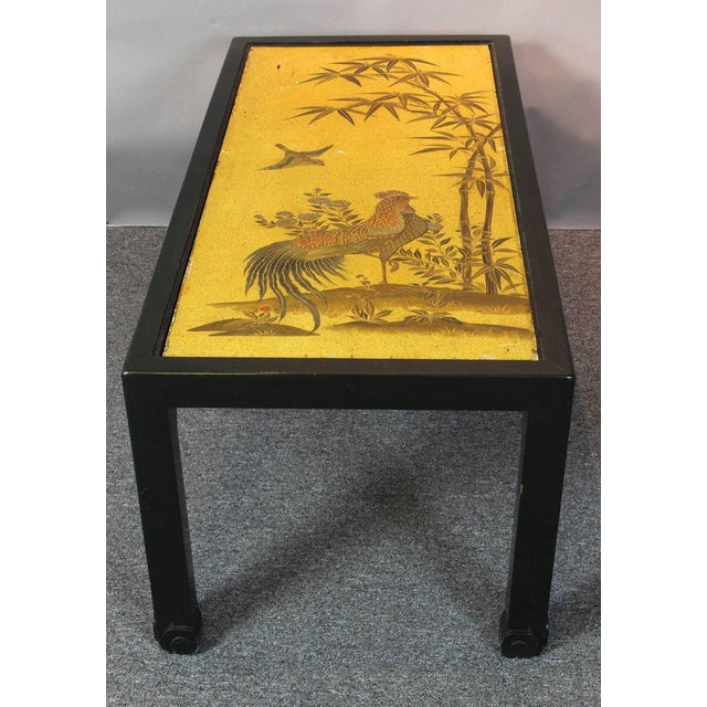 Black Chinoiserie Lacquered Cocktail Table For Sale - Image 8 of 11