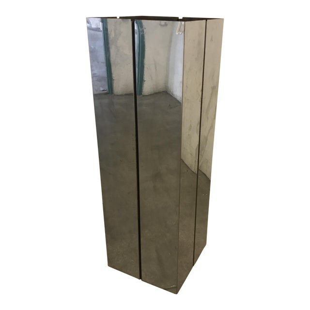 Pace Contemporary Chrome Pedestal - Image 1 of 8