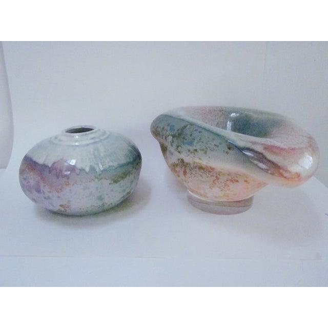 Lucite Sculpture Ceramic Raku Pottery Tony Evans - Image 2 of 11