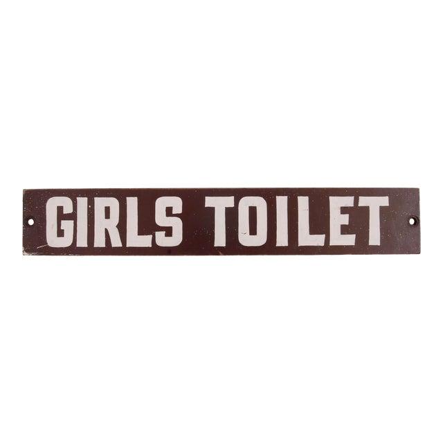 Vintage Girls Toilet Sign For Sale