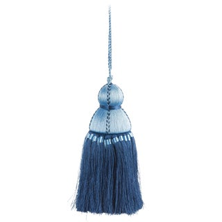 Pyar & Co. Trellis Home Tassel, Sky Blue & Navy, Small For Sale