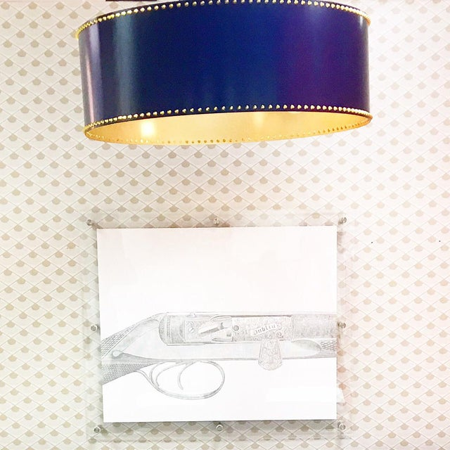 Taylor Burke Home Navy Pendant Light - Image 2 of 3