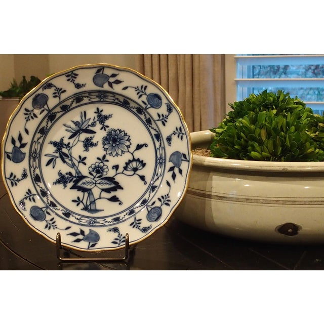 Handcrafted in Germany; piece of rare value. One of the finest porcelain manufacturers in the world, Meissen. Blue Onion...