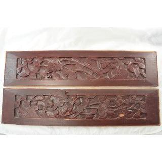 "Antique Carved 23"" Elm Panels - a Pair Preview"
