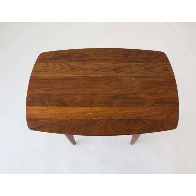 Prelude Walnut Side Table For Sale - Image 5 of 7