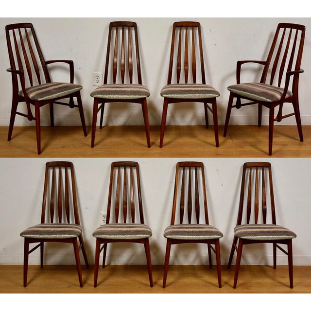 Dining Chairs by Niels Koefoed for Hornslet - Set of 8 For Sale - Image 12 of 12