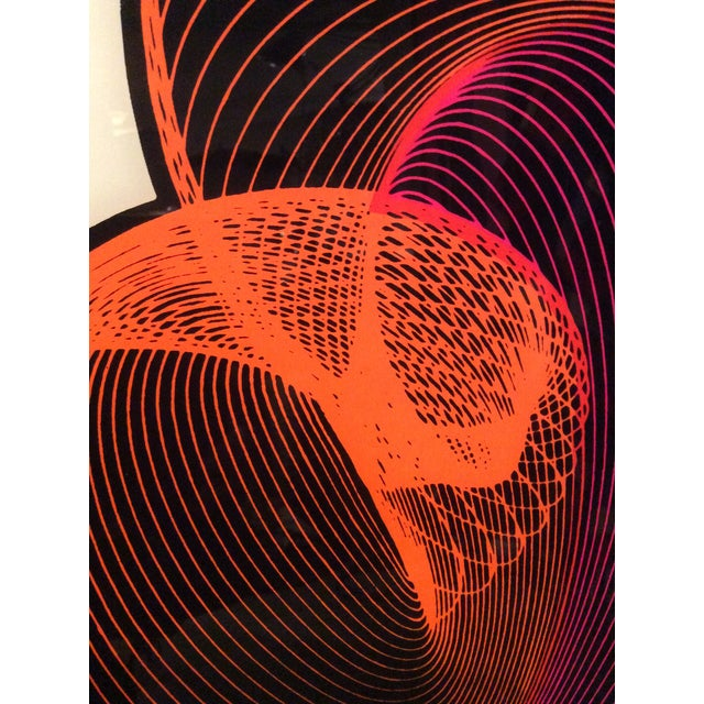 Mid-Century Modern Op Art Spirograph Painting - Image 5 of 10