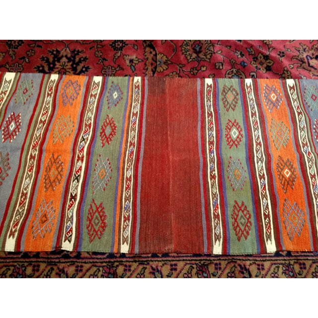 "Blue Vintage Moroccan Kilim Runner Rug - 2' 3"" X 7' 10"" For Sale - Image 8 of 13"