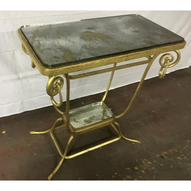 Glass Sue Et Mare Refined Pair of 2 Tier Console For Sale - Image 7 of 8
