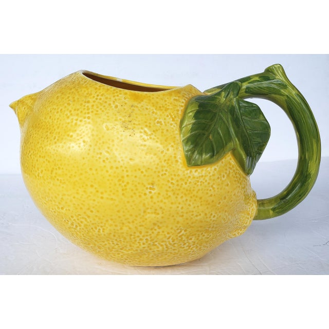 1990s 1990s Ceramic Lemon Pitcher Made in Mexico, Signed For Sale - Image 5 of 5