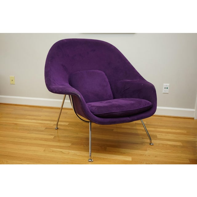 Mid 20th Century Mid-Century Modern Authentic Eero Saarinen for Knoll Purple Womb Chair For Sale - Image 5 of 12