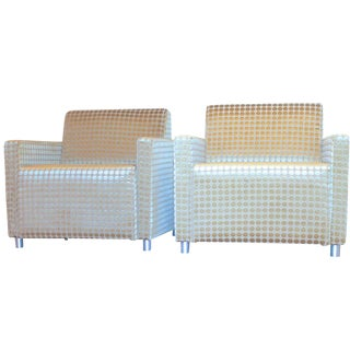 Milo Baughman Style Modern Cube Chairs - A Pair For Sale