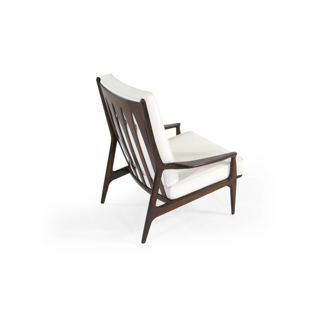 Milo Baughman for Thayer Coggin Walnut Archie Lounge Chairs For Sale In New York - Image 6 of 11