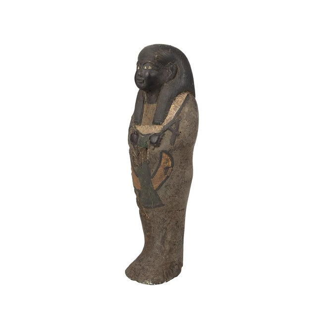 Mid 19th Century Antique Egyptian Carved Stone Pharaoh Figurine For Sale - Image 5 of 9