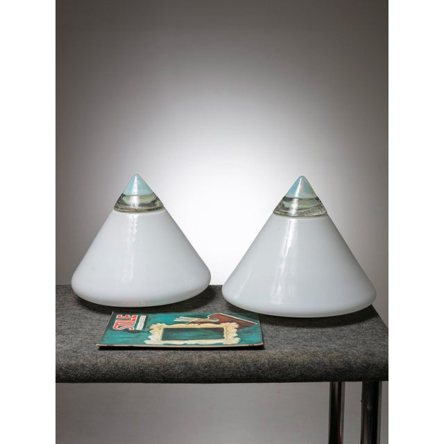 """1970s Pair of """"Rio"""" Table Lamps by Giusto Toso for Leucos For Sale - Image 5 of 6"""