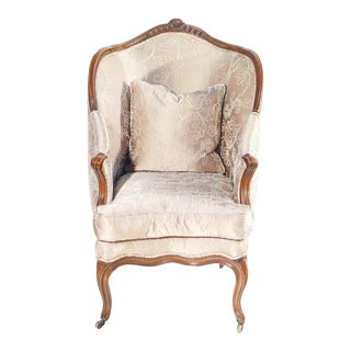 18th C. French Bergere Chair For Sale