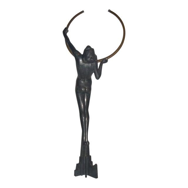 Vintage Art Deco Lady Sculpture - Image 1 of 11