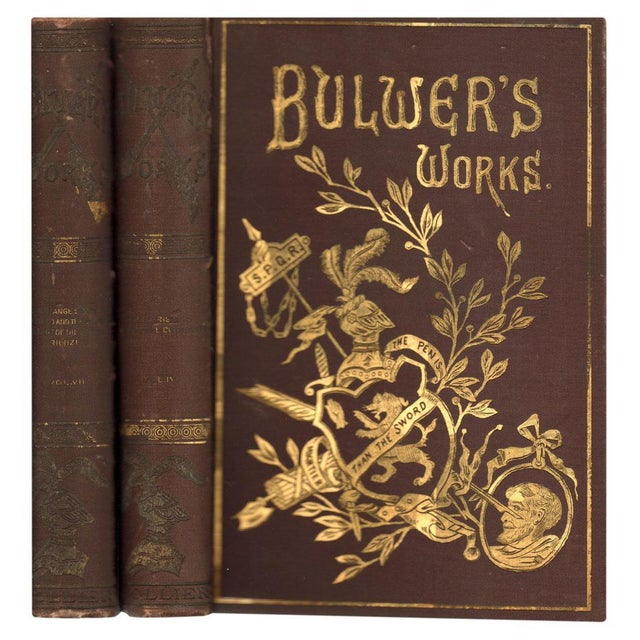 Bulwer's Works Books - Pair - Image 1 of 4