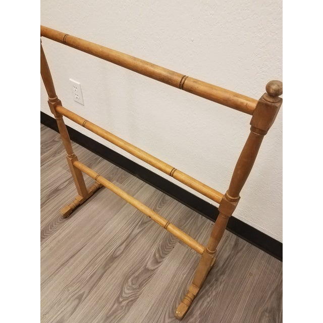 Antique English Pine Quilt or Towel Stand For Sale - Image 4 of 13