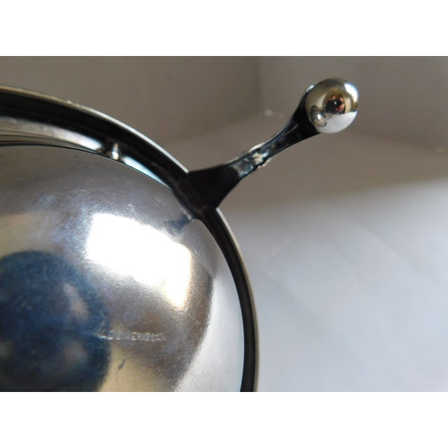 Silver Mid-Century Silverplate Cigarette Globe - Made in England For Sale - Image 8 of 10