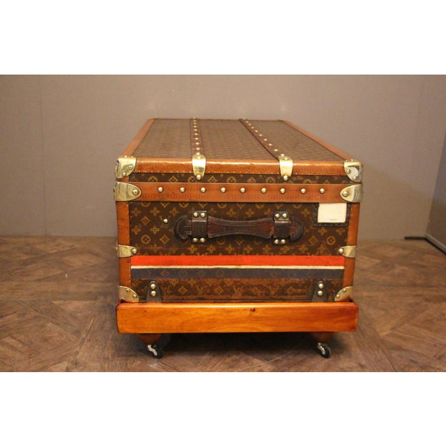 1920s Louis Vuitton Cabin Steamer Trunk For Sale - Image 10 of 13