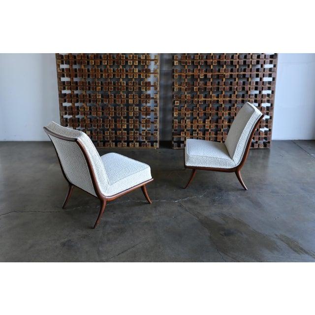 White T.H. Robsjohn-Gibbings for Widdicomb Slipper Chairs - a Pair For Sale - Image 8 of 12