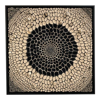 Amy Genser Black and White Square #13 Dimensional Paper Piece For Sale