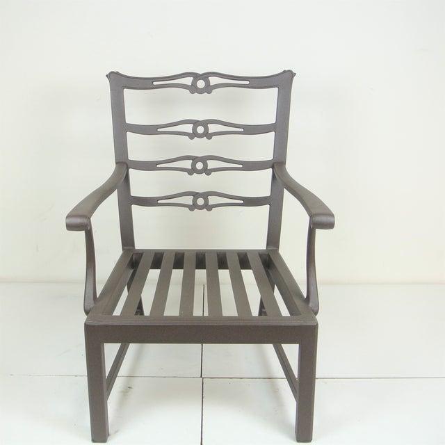 American Classical Arlington Club Chair W/ Custom Fit Sunbrella Cushion For Sale - Image 3 of 8