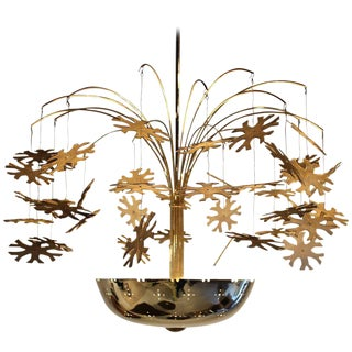 Magnificent Paavo Tynell Snowflake Chandelier