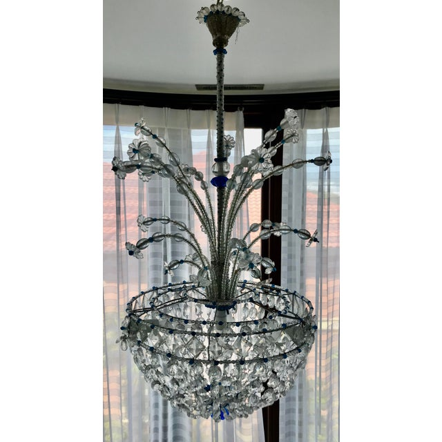 1940s Mid Century French Crystal Chandelier For Sale - Image 12 of 13