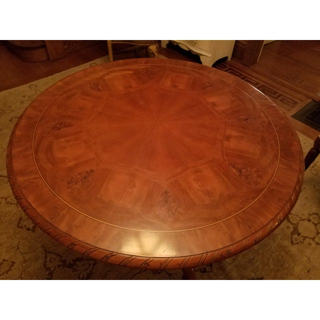 Ebanista Table With Inlay For Sale In Chicago - Image 6 of 7