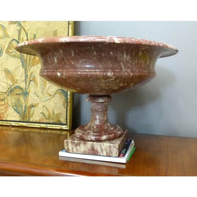 Pair of 19th Century Turned Rossa Verona Marble Tazzas This is an impressive and substantial pair of classically designed...