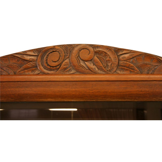 1920 French Art Deco Carved Walnut Buffet - Image 6 of 8