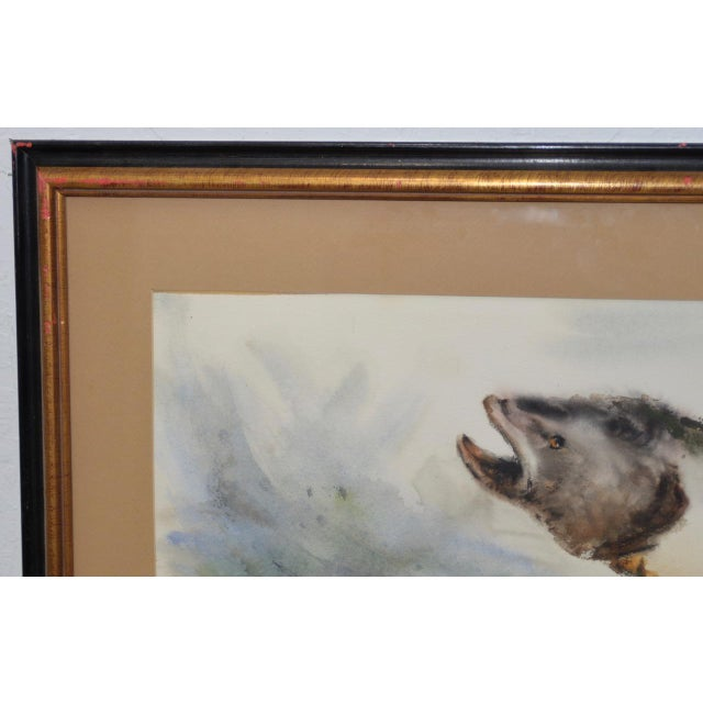 "Mabel Palmer (1903-1998) ""Up River"" Original Watercolor c.1960s For Sale In San Francisco - Image 6 of 9"