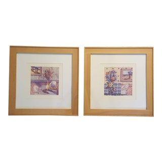Michael Graves Framed Art Prints Domestic Still Life Series - One Chair, Two Chair For Sale