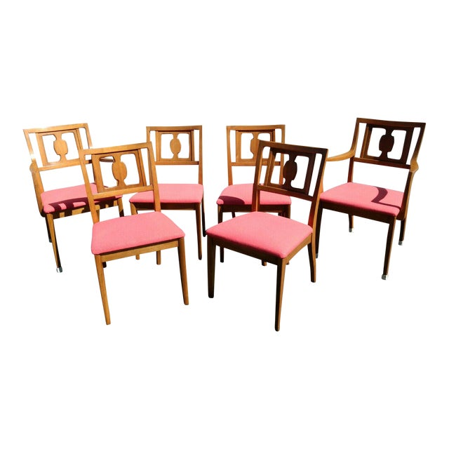 Drexel Butternut Dining Chairs - Set of 6From the Meridian Collection for For Sale