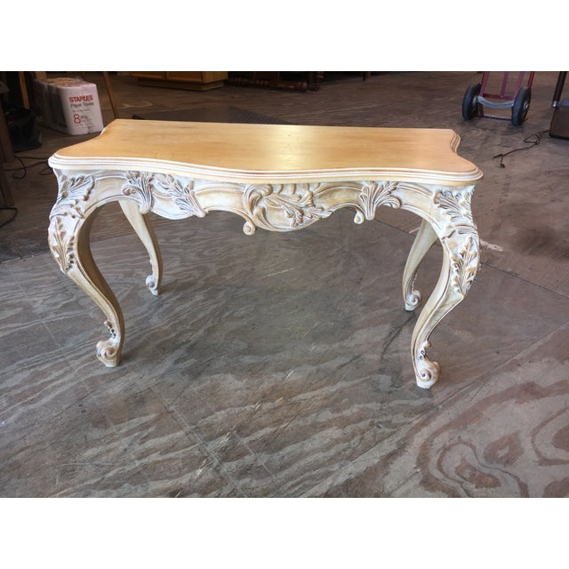 Italian Carved Wood Console Table - Image 2 of 11