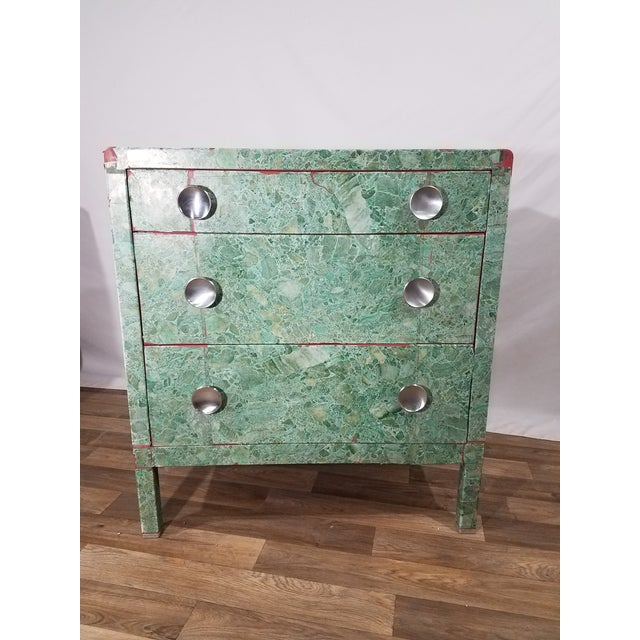 Simmons 3-Drawer Steel Green Granite Chest Of Drawers For Sale - Image 11 of 11