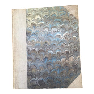Vintage Il Papario Marbleized Paper Photo Album For Sale