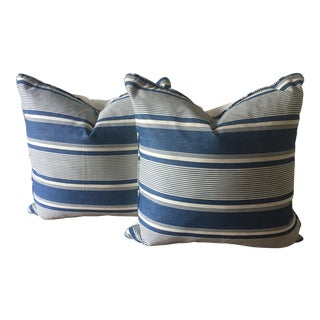 "2 Antique French 22""Indigo Dyed Pillows"