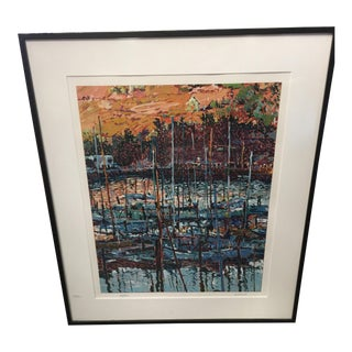 Marco Sassone Tiburon Chapel Serigraph For Sale