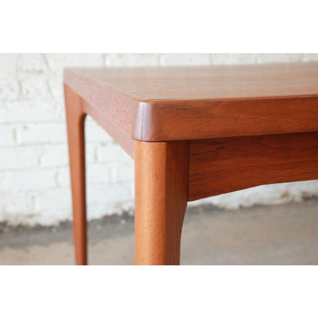 Henning Kjaernulf for Vejle Stole Danish Modern Teak Extension Dining Table - Image 9 of 10