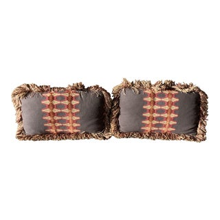 Custom Lumbar Pillows - A Pair For Sale