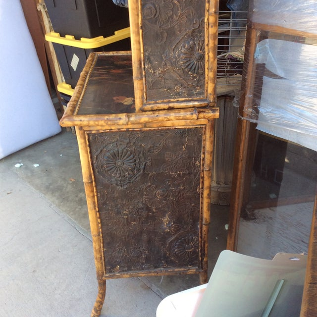 Bamboo Antique Bamboo Cabinet For Sale - Image 7 of 11 - Antique Bamboo Cabinet Chairish