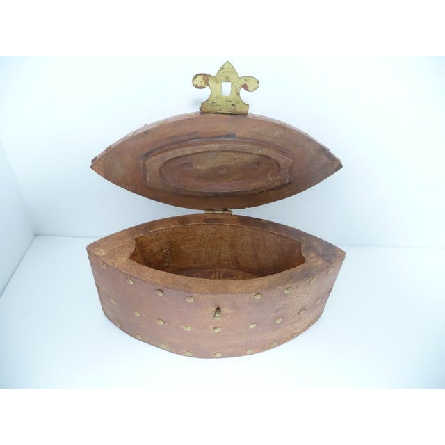Rustic Wooden Box With Brass Accents - Image 7 of 7