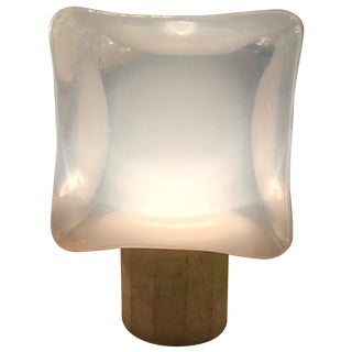 1970s Italian Cube Table Lamp by Leucos For Sale